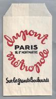 Suikerzakje.- PARIS. DUPONT METROPOLE. Sur Les Grands Boulevards. Suiker Sucre Zucchero Zucker Sugar - Suiker