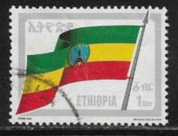 Ethiopia Scott # 1295 Used Flag, 1990 - Ethiopia