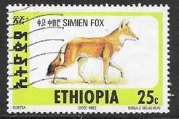 Ethiopia Scott # 1393E Used Simien Fox, 1994 - Ethiopia