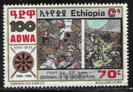 Ethiopia Scott # 1420 Used 100th Anniv. Of Battle Of Adwa, 1996 - Ethiopia