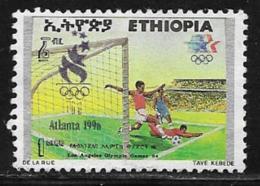 Ethiopia Scott # 1431 Used Olympics Soccer, 1996 - Ethiopia