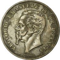 Monnaie, Italie, Vittorio Emanuele II, 5 Centesimi, 1861, Milan, TTB+, Cuivre - 1861-1946 : Kingdom