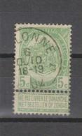 COB 56 Oblitération Centrale Relais étoile MALONNE - 1893-1907 Coat Of Arms