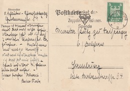"""Deutsches Reich / 1925 / Masch.-Stempel Charlottenburg """"Gedenket Der Zeppelin-Eckener-Spende"""" Auf Postkarte (5133) - Deutschland"""