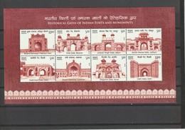 India 2019 Historical Gates Forts/ Monuments MINIATURE SHEET MNH - India