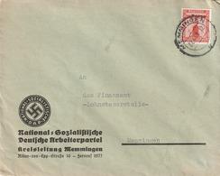 Deutsches Reich / 1940 / Dienstmarke Mi. 149 EF Stegstempel Memmingen, Abs. NSDAP-Kreisleitung (5139) - Officials