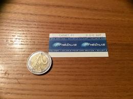 "Ticket De Bus ""Phébus - CARNET - VERSAILLES (78) - Europe"