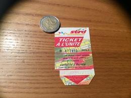 "Ticket De Bus ""Strd - A L'UNITE - DIJON (21) - Europe"