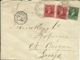 1907 Prestamped Envelope 200 Reis + 2x50 Reis In Stamps On Letter To Zofingen, Switzerland - Postwaardestukken