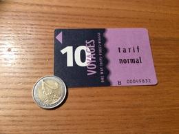 """Ticket De Bus """"SITCAT RMTT - 10 Voyages - Toulon (83) - Europe"""