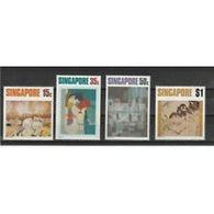 10280) SINGAPORE 1972 ARTE CONTEMPORANEA- 4 Valori. MNH/**-N.1552-55 - Singapore (1959-...)