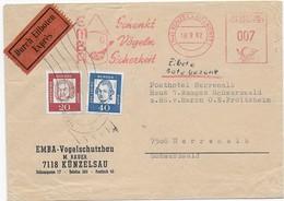 Bundespost 1962 - Eilbrief EMBA- Vogelschutzbau - Freistempel -EMBA Schenkt Vögeln Sicherheit - Other