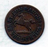 GERMAN STATES - BRUNSWICK-WOLFENBUTTEL, 1 Pfennig, Copper, Year 1729, KM #780 - [ 1] …-1871 : Duitse Staten