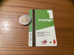 """Ticket De Bus """"SEMTAO - 1 Voyage - Orléans (45) - Europe"""