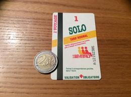 """Ticket De Bus """"SEMTAO - 1 Voyage - 1 SOLO TARIF NORMAL - Orléans (45) - Europe"""