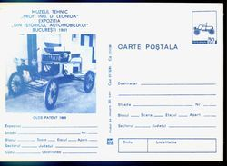 Ancienne Voiture 1888  Entier Postal  Roumanie / Romania 1981 - Autos
