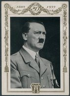 1939 Germany Propagandakarte Unser Führer Zum 50.Geburstag Berlin 1939. Propaganda Postcard. Hitler Birthday - Covers & Documents