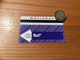 """Ticket De Bus """"tcar - Métrobus - 1 Voyage - Rouen (76) - Europe"""