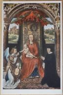 Hans Memling Thronende Madonna Mit Engel Und Stifter Wien Gemäldegalerie Im Kunsthistorischen Museum - Malerei & Gemälde