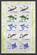 1990 North Korea DPR Fish Poisson Souvenir Sheet MNH - Fische