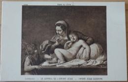 Musée Du Louvre Carracci Le Sommeil De L'enfant Jésus Infant Jesus Sleeping - Malerei & Gemälde