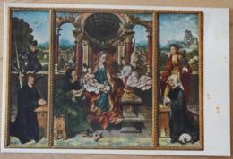 Joos Van Cleve Flügelaltar Madonna Hl. Joseph Georg Katharina Wien Gemäldegalerie Im Kunsthistorischen Museum - Malerei & Gemälde