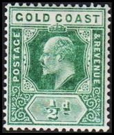 1904-1913. GOLD COAST. Edward VII. ½ D.  (MICHEL 46) - JF319219 - Costa D'Oro (...-1957)