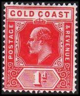 1904-1913. GOLD COAST. Edward VII. 1 D.  (MICHEL 48) - JF319220 - Costa D'Oro (...-1957)