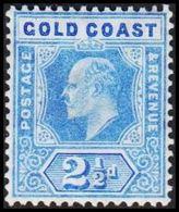 1904-1913. GOLD COAST. Edward VII. 2½ D.  (MICHEL 52) - JF319222 - Costa D'Oro (...-1957)