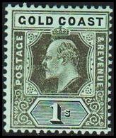 1904-1913. GOLD COAST. Edward VII. 1 S.  (MICHEL 56) - JF319226 - Costa D'Oro (...-1957)