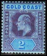 1904-1913. GOLD COAST. Edward VII. 2 S.  (MICHEL 57) - JF319227 - Costa D'Oro (...-1957)