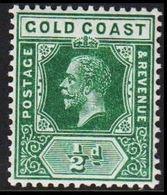 1913-1921. GOLD COAST. Georg V. ½ D.  (MICHEL 62) - JF319229 - Costa D'Oro (...-1957)