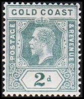 1913-1921. GOLD COAST. Georg V. 2 D.  (MICHEL 64) - JF319231 - Costa D'Oro (...-1957)