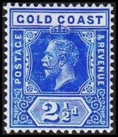 1913-1921. GOLD COAST. Georg V. 2½ D.  (MICHEL 65) - JF319232 - Costa D'Oro (...-1957)