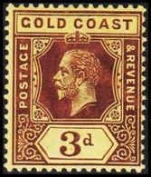 1913-1921. GOLD COAST. Georg V. 3 D.  (MICHEL 66y) - JF319233 - Costa D'Oro (...-1957)