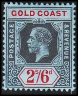 1913-1921. GOLD COAST. Georg V. 2/6 S.  (MICHEL 70) - JF319238 - Costa D'Oro (...-1957)