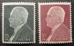 Pologne 1938 / Yvert N°397-398 / ** / Président Moscicki - 1919-1939 République