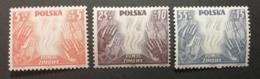 Pologne 1938 / Yvert N°419-421 / ** / Surtaxes De Bienfaisance - 1919-1939 République