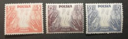 Pologne 1938 / Yvert N°419-421 / ** / Surtaxes De Bienfaisance - Ungebraucht