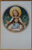 Maria Jesus Madonna Josef Bachlehner Hall In Tirol Nos Cum Prole Pia - Jungfräuliche Marie Und Madona