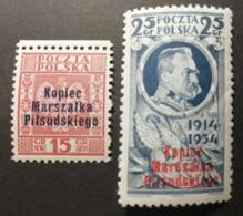 Pologne 1935 / Yvert N°389A-389B / ** / Monument Au Maréchal Pilsudski - 1919-1939 République