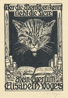 Ex Libris Elisabeth Voges - Elisabeth Voges - Gesigneerd En Gestempeld - Ex-libris