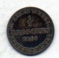 GERMAN STATES - BRUNSWICK-WOLFENBUTTEL, 1/2 Groschen, Silver, Year 1860, KM #1151 - [ 1] …-1871 : Duitse Staten