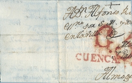 1780 - 1812 , PREFILATELIA , CUENCA , ENVUELTA CIRCULADA - ...-1850 Voorfilatelie