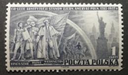 Pologne 1938 / Yvert N°399 / ** / 150ème Anniversaire De La Constitution Des Etats-Unis - 1919-1939 République