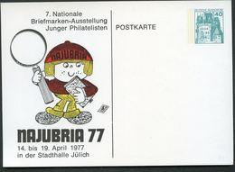 NAJUBRIA JÜLICH 1977 Bund PP100 D2/022 - Esposizioni Filateliche