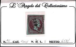 10242)  Grèce N°15 1861 - Tête De Mercure-40 -USATO - Oblitérés