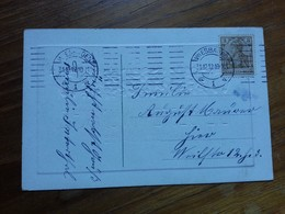 Postkarte, Nach Wiesbaden, 1912, Neues Jahr - Allemagne