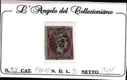 10244)  Grèce N°15- 1861- Tête De Mercure-40 LEPTA-USATO - Oblitérés