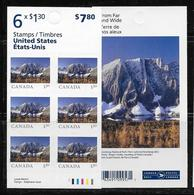2020 CANADA, From Far And Wide, MNH, USA  Rate , Booklet Of 6 - Paginas De Cuadernillos
